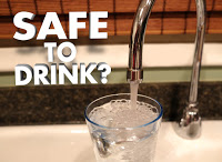 tap running in glas on sink words: safe to drink?