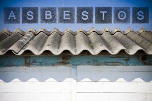 Dangerous asbestos roof.