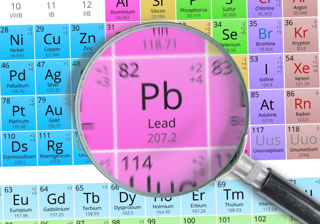 Lead - Element of Mendeleev Periodic table