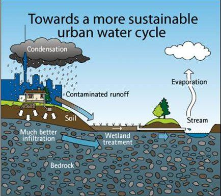 Is Copper contaminating Your Tap Water? Sustainable urban water cycle infographic
