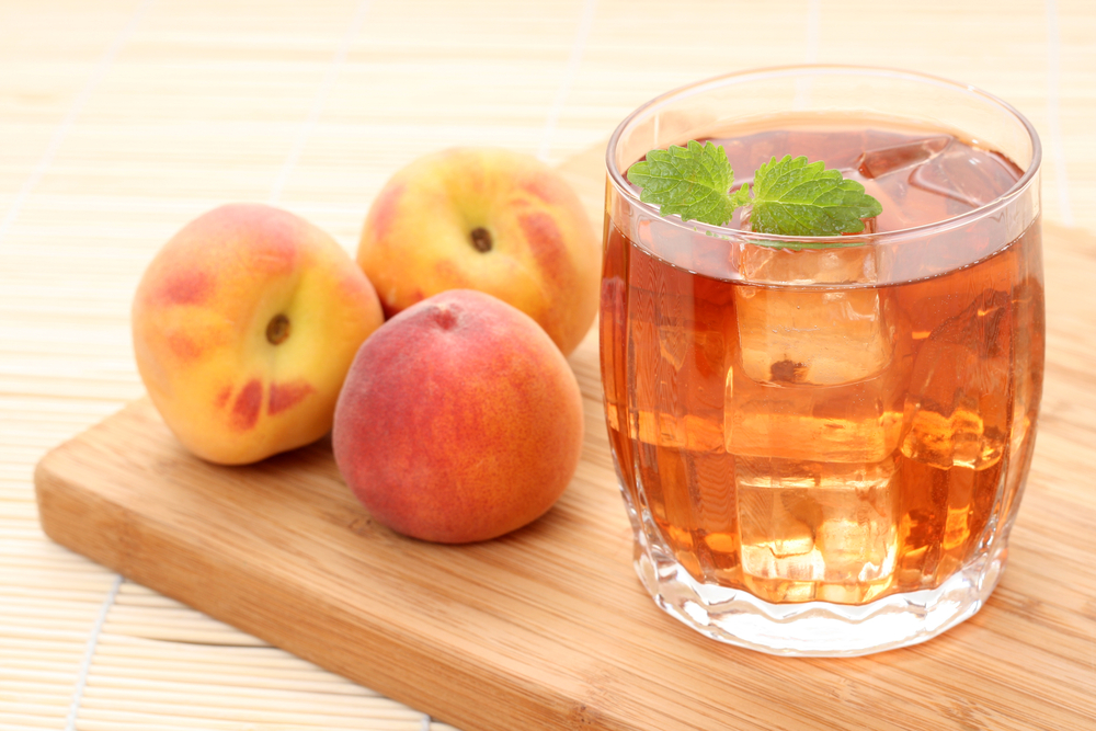 Peach Iced Tea another healthy water based recipe recommneded by ZeroWater!