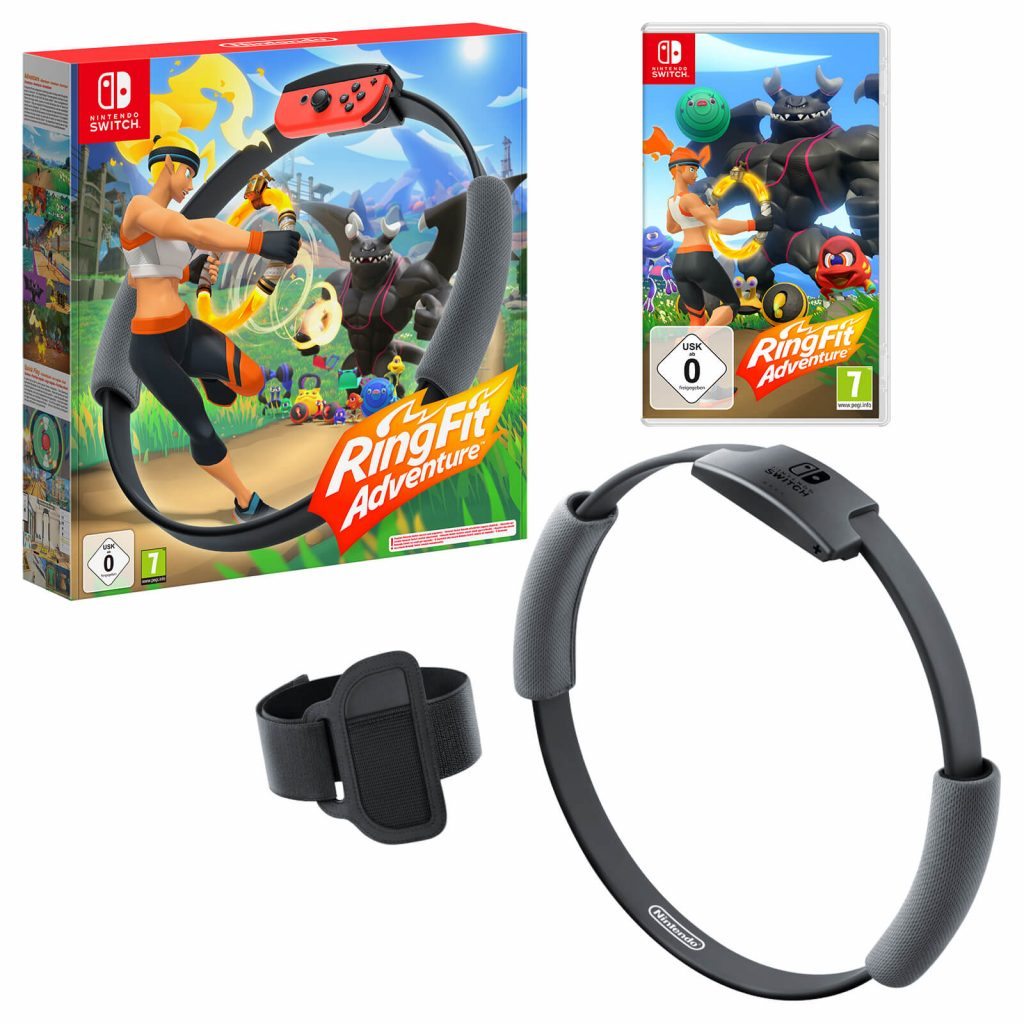 Christmas Gift Idea - Stay fit and healthy with a Nintendo Ring Fit Adventure as seen on the Nintendo Store.