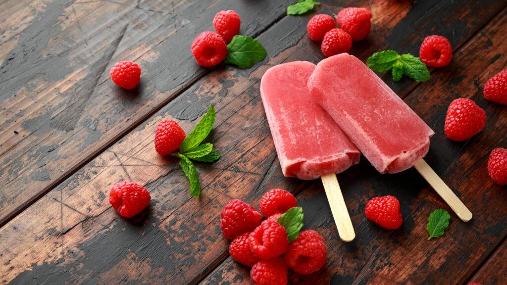 ivine Dessert Ideas - Home-made Raspberry Popsicles
