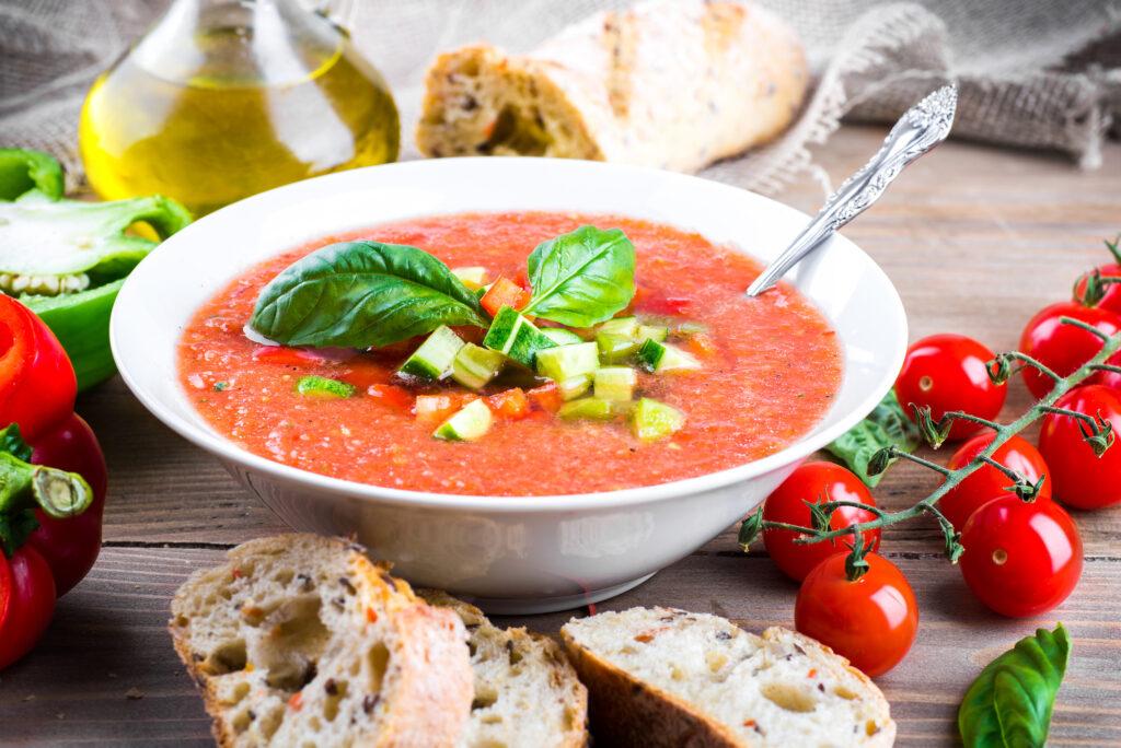 Tomato and Cucumber Gazpacho